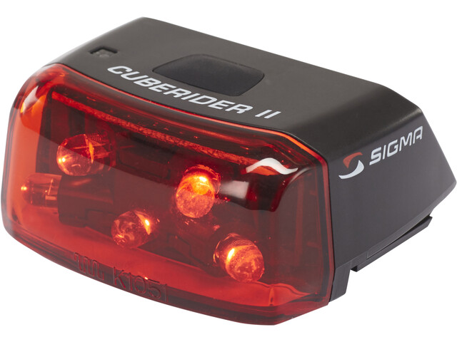 SIGMA SPORT Cuberider II Luz trasera LED, black/red
